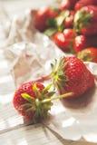 Fresh strawberry in sunny light Stock Image