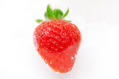 Fresh strawberry in water Royalty Free Stock Photos