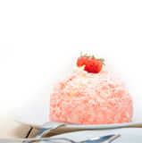 Fresh strawberry and whipped cream dessert Royalty Free Stock Photography