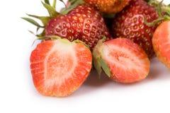 Fresh strawberry on white Stock Image