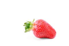 Fresh strawberry  on a white Royalty Free Stock Photography