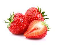 Fresh strawberry. On a white background