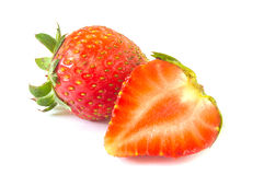 Fresh strawberry. On the white background stock image