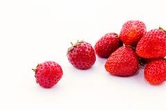 Fresh strawberry on white background. Royalty Free Stock Images