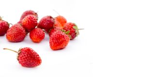 Fresh strawberry on white background. Stock Images