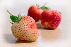 Fresh Strawberry. On wood table Royalty Free Stock Photography