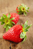 Fresh strawberry. On wooden background Stock Photography