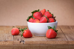 Fresh strawberry on wooden Stock Photos