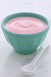Fresh strawberry yogurt Royalty Free Stock Images