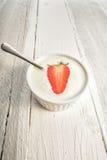Fresh strawberry yogurt Royalty Free Stock Photo