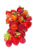 fresh strawberrys and blackberries Royalty Free Stock Photos