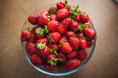 Fresh strawbery. Fresh strawberries on the table Royalty Free Stock Images