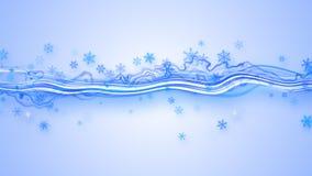 Fresh stripe and snowflakes Stock Photos