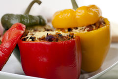 Fresh Stuffed Bell Peppers Stock Image