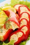 Fresh stuffed peppers Stock Image