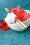 Fresh styling; series, angled with loose petal Royalty Free Stock Image