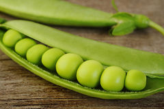Fresh sugar snap peas Royalty Free Stock Images
