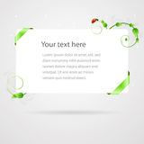 Fresh Summer Banner Card Template Royalty Free Stock Images