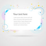 Fresh summer banner card template Stock Images