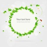 Fresh summer banner sticker template vector illustration