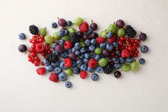 Fresh summer berries on concrete background Stock Image