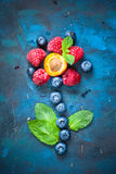 Fresh summer berries and fruits Stock Images