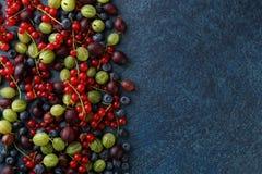 Fresh Summer Berries On Stone Background Stock Photo