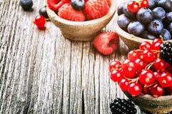 Fresh summer berries Stock Photos