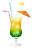 Fresh Summer Cocktail Illustration Stock Photography