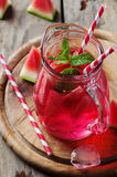 Fresh summer cocktail with watermelon Stock Images