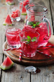 Fresh summer cocktail with watermelon Royalty Free Stock Images