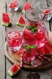 Fresh summer cocktail with watermelon Royalty Free Stock Photo
