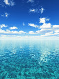 Fresh summer day. Ilustration of sunny tropical seascape Royalty Free Stock Photography