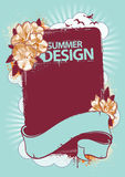 Fresh summer design. Background for your text. Grunge style with retro elements. Vector illustration Stock Images