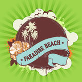 Fresh summer design. Background for your text. Grunge style with retro elements. Vector illustration Stock Image