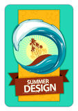 Fresh summer design. Background for your text. Retro style. Vector illustration Stock Photography