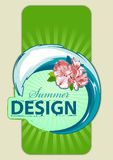 Fresh summer design. Background for your text. Retro style. Vector illustration Stock Photos
