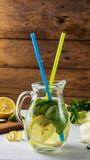 Fresh Summer Drink. Healthy detox water with lemon, cucumber and mint Stock Image