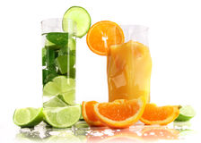Fresh summer drinks Royalty Free Stock Images