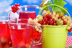 Fresh summer fruit compote Stock Photo