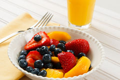 Fresh Summer Fruit Salad Stock Images