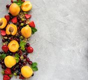 Fresh summer fruits royalty free stock photography
