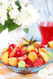 Fresh summer fruits. Delicious fresh fruits served in bowl as dessert Stock Image