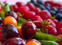 Fresh fruits and berries stock image