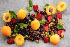 Fresh summer fruits Royalty Free Stock Photo