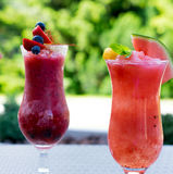 Fresh summer fruity smoothies Royalty Free Stock Photos