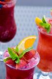 Fresh summer fruity smoothies Royalty Free Stock Image
