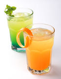 Fresh summer juices Stock Images