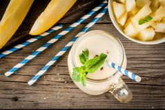 Fresh summer melon smoothie stock photo