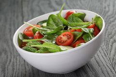 Fresh summer organic salad with tomatoes cucumbers Stock Photography